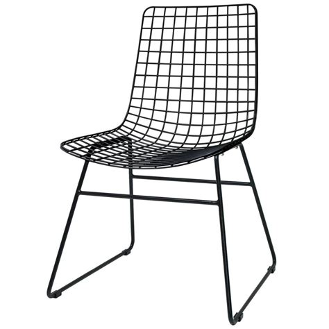 Wire Dining Chair Hk Living Dining Chair Dining Wire Black Metal 47x54x86cm