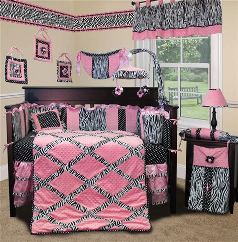 Pink And Zebra Crib Bedding Baby Boutique Pink Minky Zebra 13 Pcs Baby Crib Nursery Bedding Set Ebay