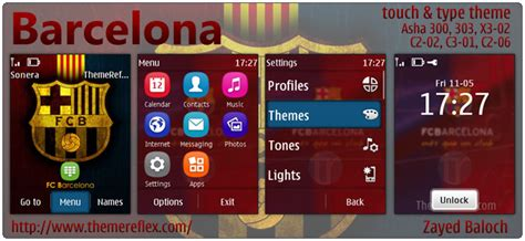 themes reflex nokia c2 02 barcelona theme for nokia asha 303 x3 02 c2 06 touch