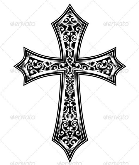 ornate cross tattoos b22210a0f72939a4dafe84cc73222bb3 jpg 590 215 700