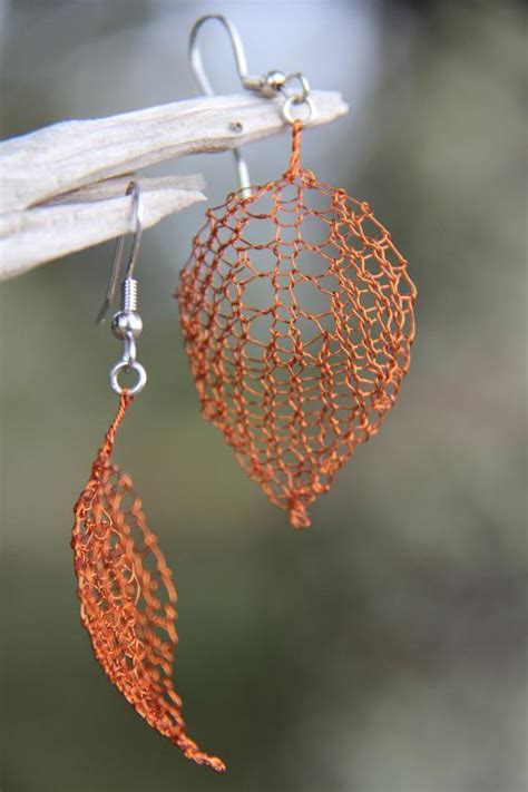 leaf pattern jewellery the perfect diy wire crochet jewelry free pattern the
