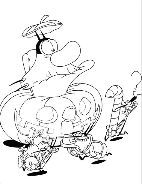 learn colors with oggy 84 oggy and the cockroaches coloring pages oggy and