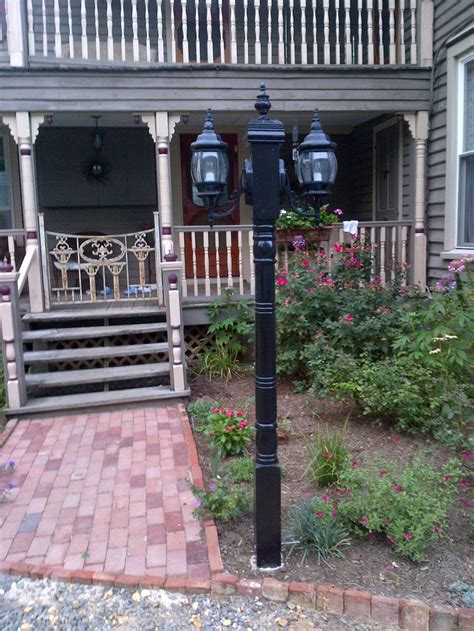 Solar Lights For Front Porch porch post with found lanterns neat idea would be to