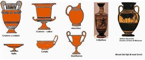 forme dei vasi greci arte semplice e poi gli stili nei vasi greci e le
