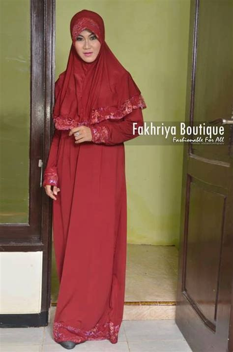 Baju Muslim Rabbani Collection aulia by fakhriya merah baju muslim gamis modern