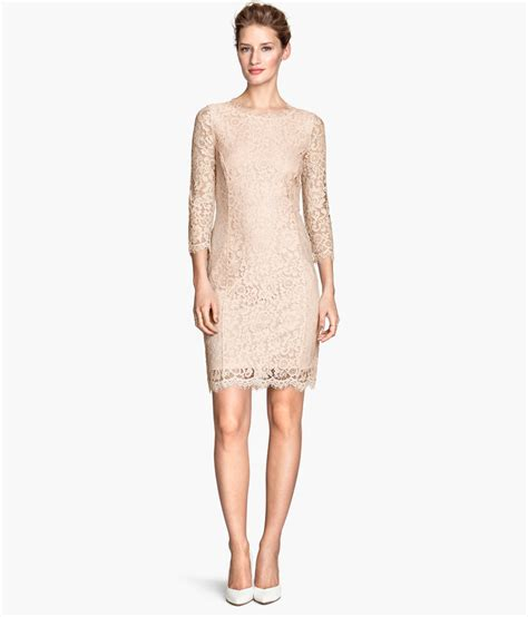 Hm Dress h m lace dress in lyst