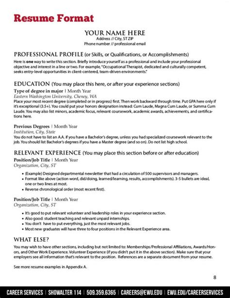 resume format guide expert tips on resume principles sle templates