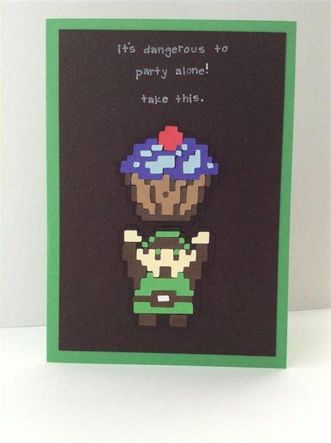 Link Birthday Card Link Zelda Inspired Birthday Card Happy Birthday