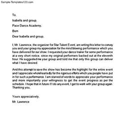 Customer Performance Letter Appreciation Letter For Performance Sle Templates