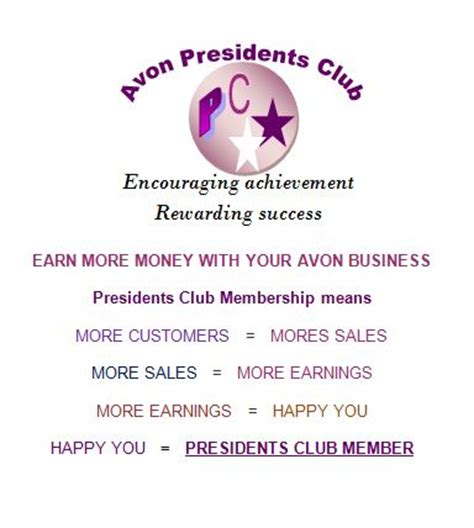 avon presidents club p c membership