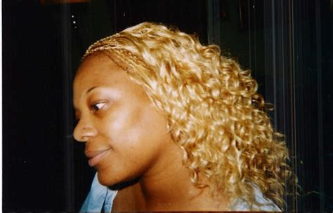 braided hair on a track blonde micros with synthetic blonde track hair goddess