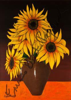 vaso con girasoli enrico renato paparelli pittore roma