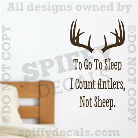 count antlers wall decal wall to go to sleep i count antlers not sheep quote vinyl wall