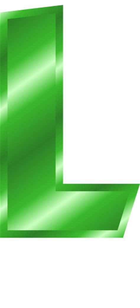 green metal letter capitol l signs symbol alphabets