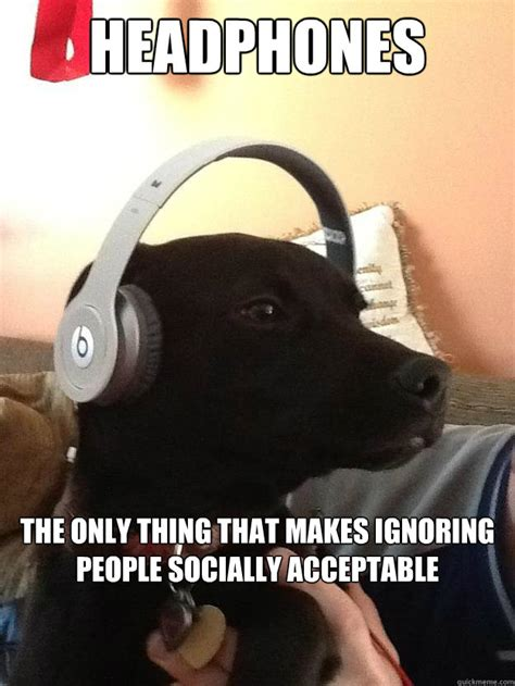 Headphones Meme - headphones the only thing that makes ignoring people