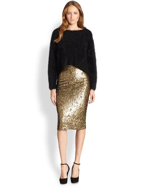 gold sequin pencil skirt fashion skirts