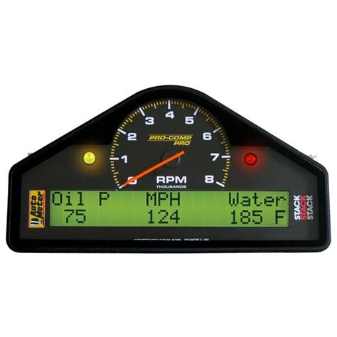 auto dash auto meter 6001 pro comp analog digital lcd dash