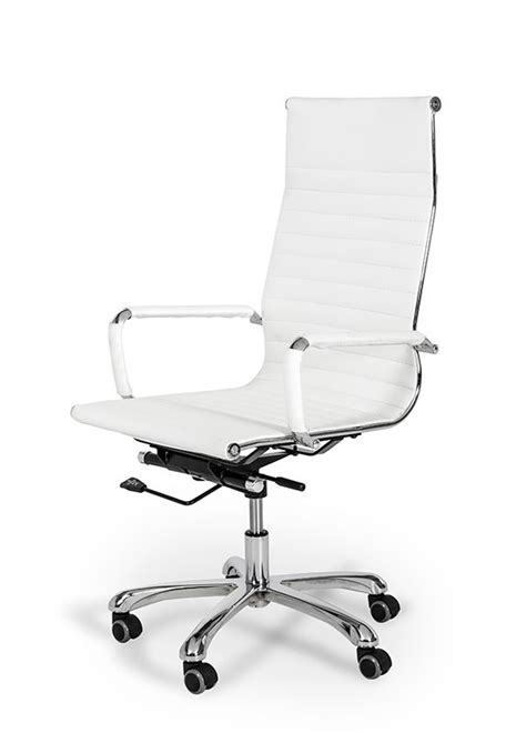 Modern White Office Chair by Xy100 Modern White Eco Leather Office Chair