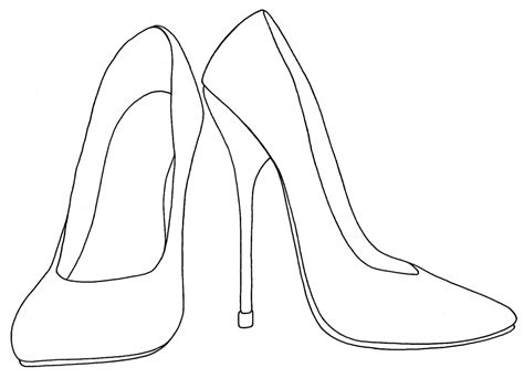 high templates best photos of high heel drawing template high heel shoe