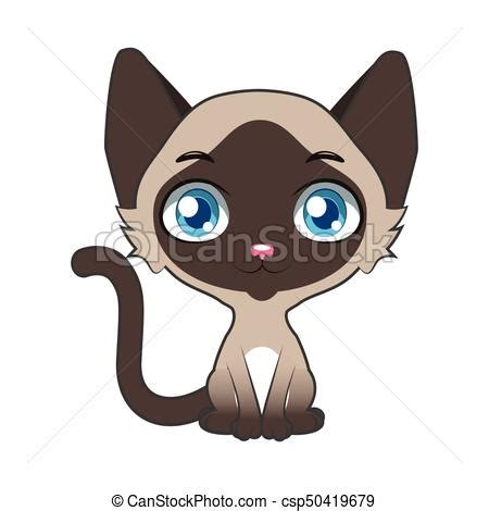 Cartoon siamese cat illustration vectors illustration ... Free Clipart Of Siamese Cats