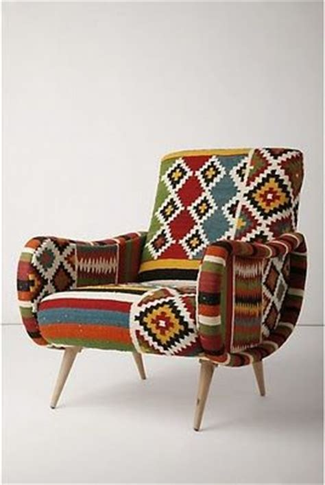 tribal pattern chair geo tribal print armchair homes and decor pinterest