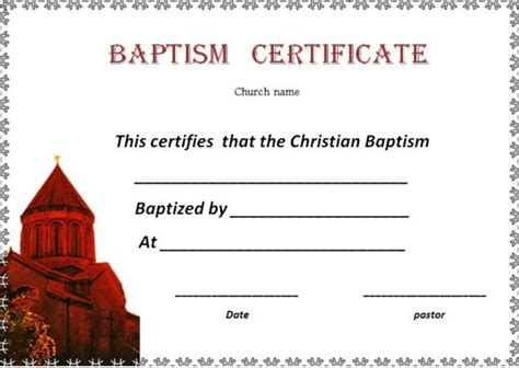 baptism certificate template word 30 baptism certificate templates free sles word