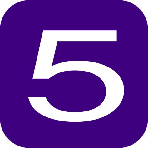purple number 5 clip art at clker com vector clip art