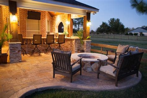 Fire Resistant Rugs For Fireplaces Fire Features By Texas Custom Patios Traditional Patio