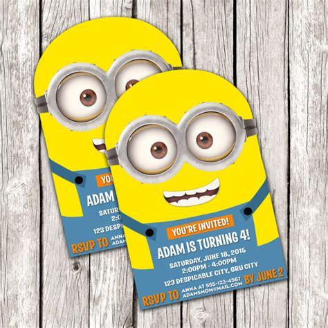 Handmade Minion Invitations - minion invitation despicable me birthday diy