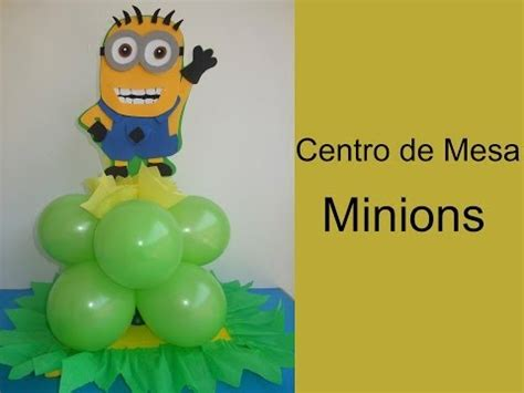 diy centro de mesa de minions con botellas pet file 3gp flv mp4 minions como hacerlos en fomi how to make them with