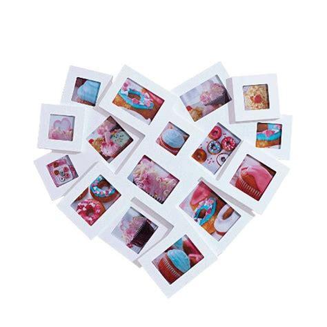 cornici a forma di cuore cornice a collage a forma di cuore per 16 foto legno mdf