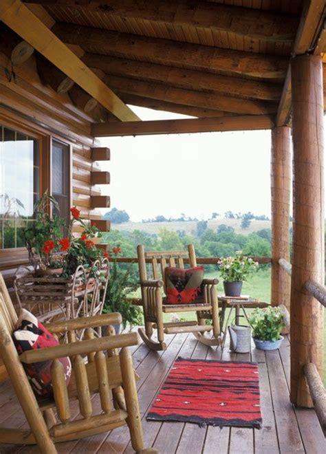 log cabin porch log cabin summer porches pinterest