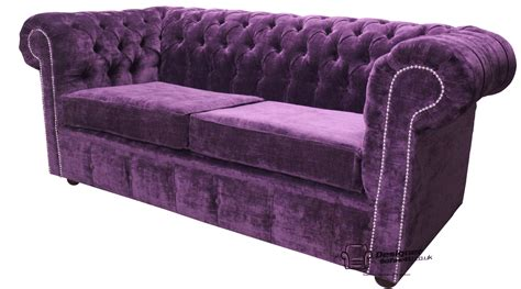 Purple Chesterfield Sofa Chesterfield Traditional 2 Seater Settee Sofa Velluto Amethyst Purple Fabric