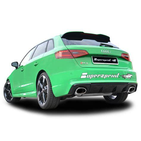 audi rs3 performance performance sport exhaust for audi rs3 8va audi rs3 8va