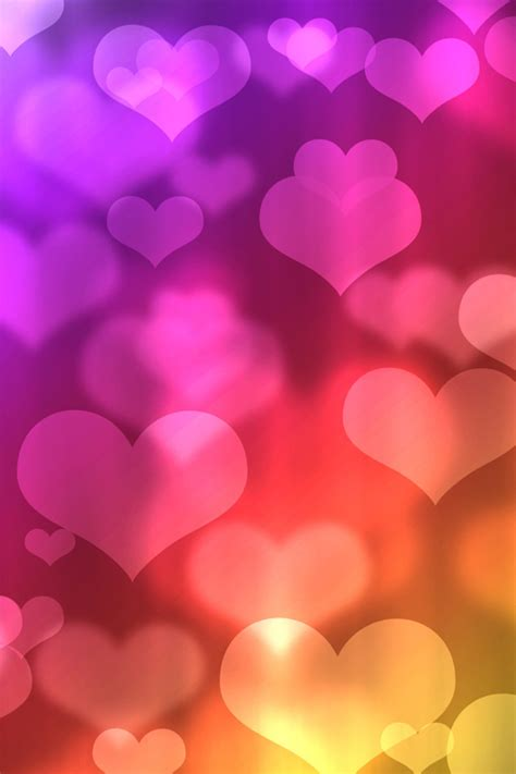 wallpaper colorful heart photo collection colorful heart iphone wallpapers