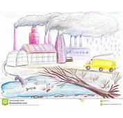 Ecological Drawing On The Theme Of Environmental Pollution