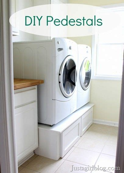 diy washing machine pedestal with drawers washers the machine and pedestal on