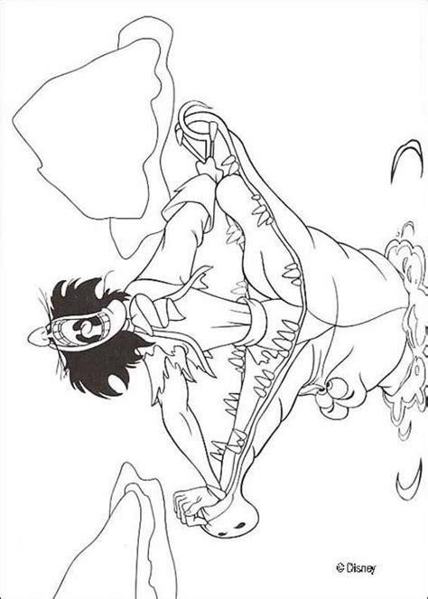 Captain Hook And A Crocodile Coloring Pages Hellokids Com Captain Hook Coloring Pages