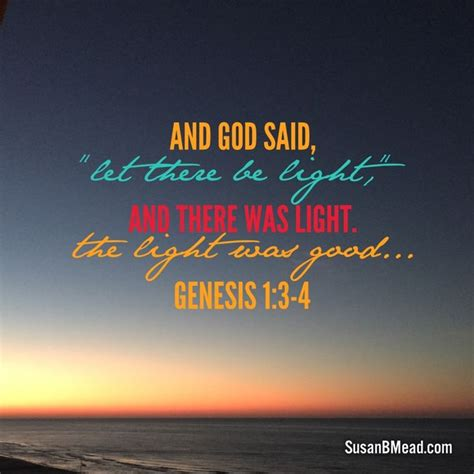 let there be light bible verse and god said let there be light and there was light