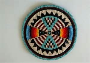 details about native american beaded medallion beautiful