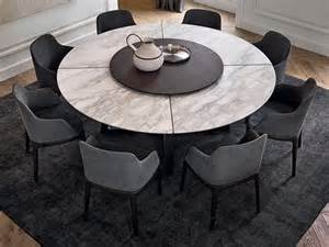 Round Wood Dining Room Tables concorde marble table concorde collection by poliform