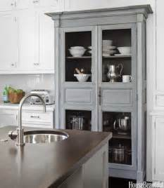 Kitchen Armoire Cabinets by Chicken Wire Cabinet Doors Transitional Kitchen