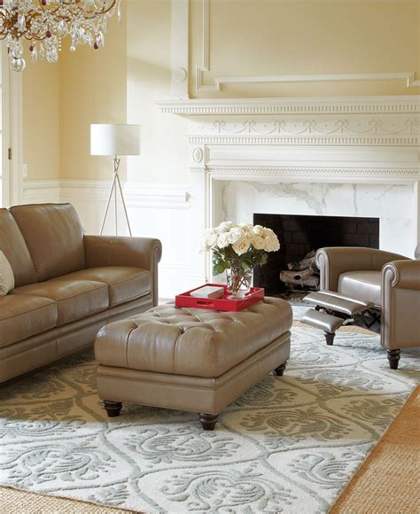 martha stewart living rooms martha stewart bradyn leather sofa living room furniture