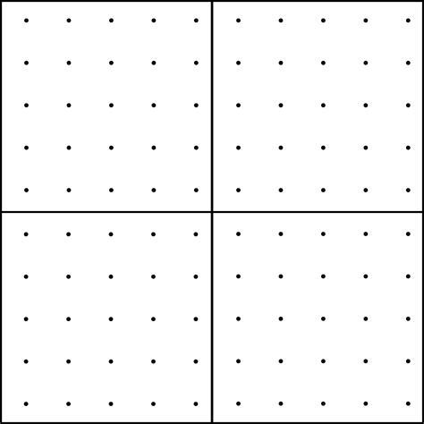 dot pattern math 10 dot geoboard clipart etc
