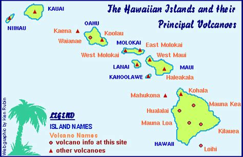 volcanoes in hawaii map hawaii center for volcanology hawaiian volcano general