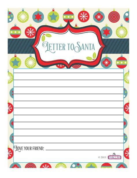 Free Santa Letter Template