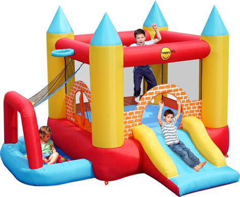 duplay 4 in 1 10ft x 9ft turret bouncy castle with slide pool pit