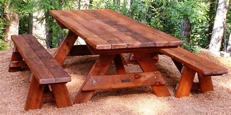 build a picnic table with detached benches plans for building a picnic table with separate benches
