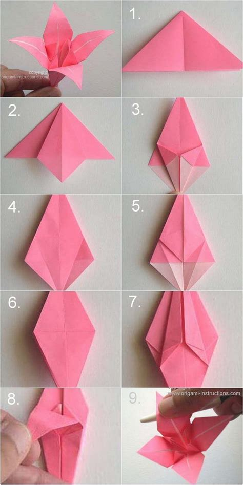 Origami Flower Bookmark - 17 best images about origami on corner