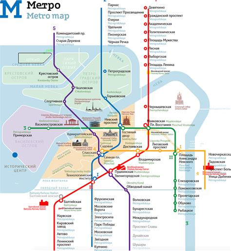 st map the of the petersburg metro map